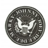 Parche textil MARKY JOHNNY JOEY DEE DEE ( RAMONES) 7,5cm