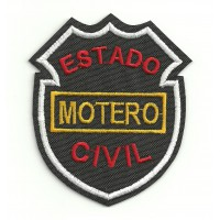 Embroidery Patch ESTADO CIVIL MOTERO 8cm x 6,5cm