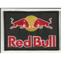 Patch embroidery RED BULL BLACK 10cm x  7cm