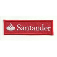 Parche bordado BANCO SANTANDER ROJO 9cm x 3cm