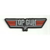 Patch embroidery TOP GUN 10cm x 3cm