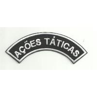 Parche bordado BOPE AÇOES TÁTICAS 11,5cm x 4cm