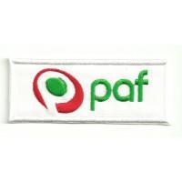 Parche bordado PAF 8,5cm x 3,5cm