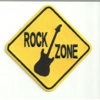 Parche bordado ROCK ZONE 10cm x 10cm