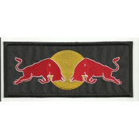 Patch embroidery RED BULL TOROS  10cm x 4,2cm