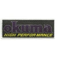 Parche textil OKUMA 9cm x 3,5cm