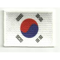 Parche bordado y textil BANDERA COREA DEL SUR 7cm x 5cm