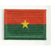 Parche bordado y textil BANDERA BURKINA FASO 7cm x 5cm