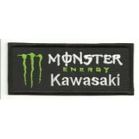 Parche bordado KAWASAKI MONSTER ENERGY 5cm x 2cm