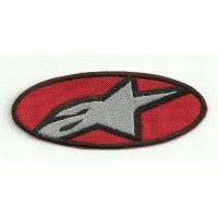 Patch embroidery ALPINESTARS RED 5cm x 2cm