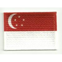 Parche bordado y textil SINGAPUR 7CM x 5CM