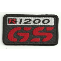 Patch embroidery BMW GS R1200 NEGRO 8cm x 4,5cm
