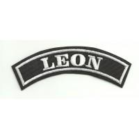 Parche bordado LEON 11cm x 4cm