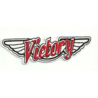 embroidery patch VICTORY MOTORCYCLES ALAS 10.5cm x 3cm