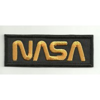 Parche bordado NASA NEGRO 13,5cm x 5,25cm