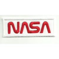 Parche bordado NASA BLANCO 9cm x 3,5cm