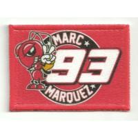 Patch textile and embroidery FLAG MARC MARQUEZ  7cm x  5cm