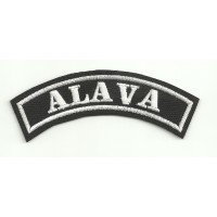 Parche bordado ALAVA 11cm x 4cm