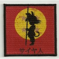 Parche bordado y textil SON GOKU 7,5cm X 7,5cm