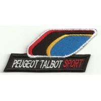 Parche bordado PEUGEOT TALBOT SPORT 8,5cm x 4cm