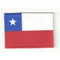 Parche bandera CHILE 4cm x 3cm