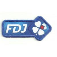Parche bordado y textil FDJ 8cm x 4cm