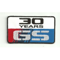 Parche bordado BMW GS 30 YEARS 19cm x 10,5cm