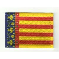 Patch embroidery and textile FLAG COMUNITAT VALENCIANA 4CM X 3CM
