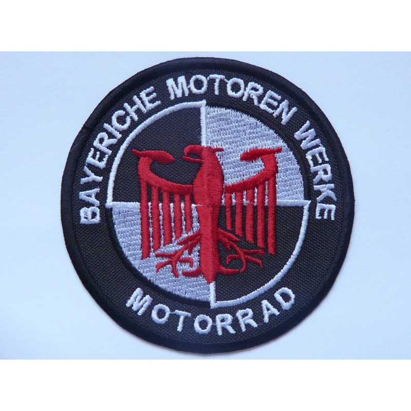 patch embroidery bmw bayerische motoren werke motorrad 7. Black Bedroom Furniture Sets. Home Design Ideas