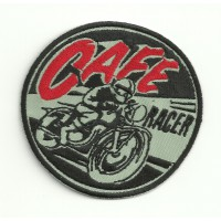 Patch embroidery CAFE RACER MOTO 4,5cm x 4,5cm