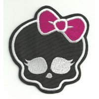 Parche bordado MONSTER HIGH NEGRA 8cm x 8,5cm