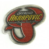 Textile patch AKRAPOVIC OFFROAD 8cm x 7cm