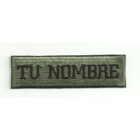 Embroidery Patch MILITARY WITH YOUR NAME 9cm x 2.5cm NAMETAPE
