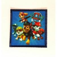Parche bordado y textil PATRULLA CANINA 6,6cm x 6,6cm