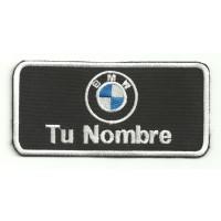 Parche bordado BMW CON TU NOMBRE 10cm X 5cm