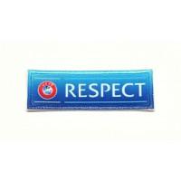 Parche textil y bordado RESPECT UEFA 6cm x 2cm