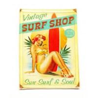 Parche textil y bordado SURF SHOP 5cm x 7cm