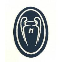 Parche bordado 11COPAS CHAMPIONS REAL MADRID NUEVO 5cm x 7,5cm