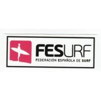 Parche textil FEDERACION ESPANOLA DE SURF 9cm x 3,5cm