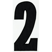 Parche bordado NUMERO 3 NEGRO 16cm X 7,5cm