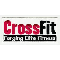 Parche bordado CROSSFIT ROJO forging elite fitness 11cm x 5cm