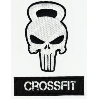 Parche bordado PACK CALAVERA EL CASTIGADOR CROSSFIT ( The punishe ) 10cm x 13cm