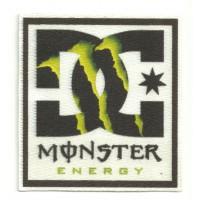 Textile patch DC SHOES MONSTER ENERGY 5cm x 5,5cm