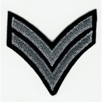 Embroidered patch GALON OLD SILVER 5.5cm x 5.5cm