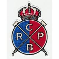 Parche bordado REAL CLUB DE POLO DE BARCELONA 6cm X 8,5cm