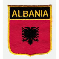 Parche bordado ESCUDO BANDERA ALBANIA 6cm x 7cm