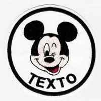 Parche bordado MICKEY TU TEXTO 7,5cm