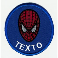 Parche bordado SPIDERMAN TU TEXTO 7,5cm
