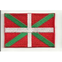 Patch embroidery FLAG IKURRIÑA (Pais Vasco) 4cm x 3cm