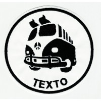Parche bordado VW T1 TU TEXTO 7,5cm